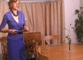 Uma in the dining room