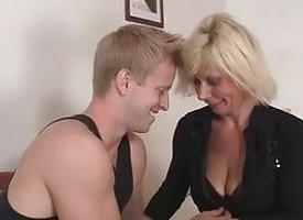 Old flaxen-haired is doggy-style fucked