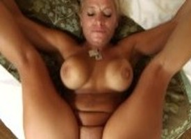 Big tits MILF succeed in facial plus creampie