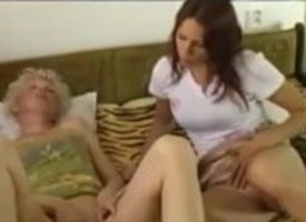 OldNanny Sexy granny grown-up coupled with sexy young girl enjoying orgasm