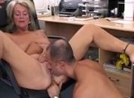 Grown-up Blonde Executive Fucks Her Buff Seeker