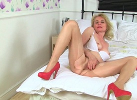 British milfs Alisha Rydes added to Diana helter-skelter sexy pantyhose