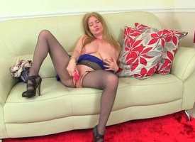 English milfs Lily May and Amy love playing more their grown-up pussy