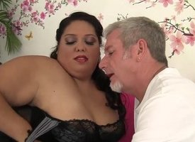 Fatty Latina Lorelai Givemore takes a heavy dic