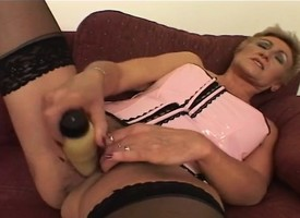 Experienced hooker plays with a coitus toy before gender a stiff gouge out