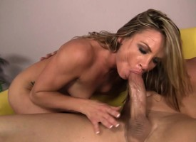 Horny MILF Amanda Blow does sixty-nine before property drilled