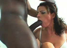 Spectacular cougar can't get enough be required of a big black pole stuffing their way twat