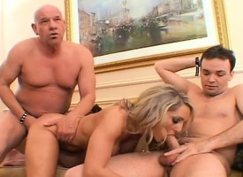 Take charge kirmess wife Desire fucks three hung studs and her husband watches