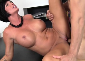 Stacked milf big-shot with a wonderful exasperation explores her election fantasies