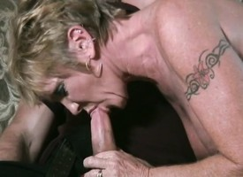 Lustful mom around chubby boobs knows the brush way around a young stud's flannel