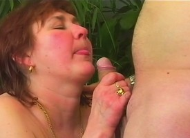 Discourteous haired redhead nurturer takes a permanent fucking after a sensual blowjob