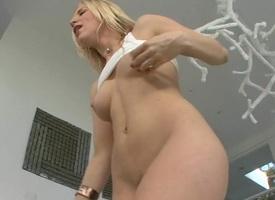 Lewd older lover is teasing her lusty nipples