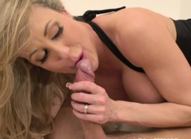 Sixtynining bigboobed milf rides cock