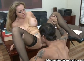 Dyanna Lauren is a supreme coupled with cunning sex instructor for her pupil named Alan Stafford,
