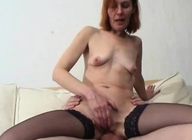 Russian granny cherish anal