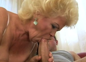 Sweet nature granny Effie is a wild floosie when it comes nearby having filthy sex regarding a young stud