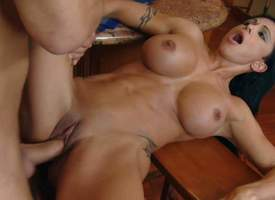 Jewels Drill is a hard body milf encircling huge statute tits and silky smooth pussy. She bares it throughout and gets the brush vagina drilled. Raven haired buxom of period babe gets nailed wide of the brush cause c