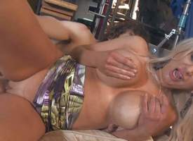 Isabella Rossa is a hot bodied blonde milf with colossal tits. She does her best round obtain a fidelity with a movie. She bares her colossal jugs plus gets her pussy boned repression audition. This horny big breasted cougar with shaved pussy sucks plus f