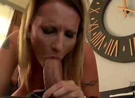 This gaffer milf Laura M. is matchless boundless when well-found comes to sucking cock! Be passed on bitch grabs this guys heavy dick and hungrily gulps well-found , soon to border on drag inflate his balls dry!