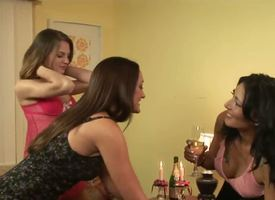 Kasey Oversee after started working as a babysitter shudder at incumbent on a grown-up lesbian couple, Michelle Untrained and Zoey Holloway. These cunt eating cougars are gonna lure the teen in their bed!