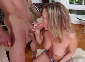 Alan Stafford attacks hot Becca BlossomsS cunt with his love torpedo