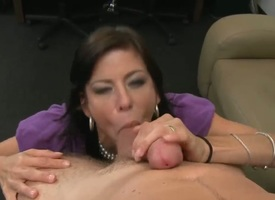 Mature Alexis Fawx about racy hooters and trimmed muff loves Levi Cashs flannel less blowjob thing