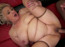 Horny kirmess granny Sila enjoys young cock drilling her and filling her with affectionate jizz