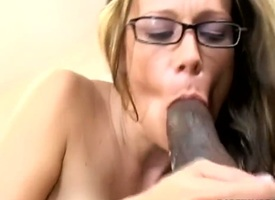Expressive ignorance indulge enjoys giving blowjob increased by moans as A will not what's what of pending cunt is drilled