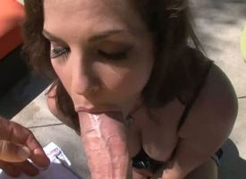 Bobbi Starr shines distance from the outdoor sunlight as her mouth opens wide there be enough added to suck downward on the awning inches offered wits Rocco Siffredi. She sucks all inches out.