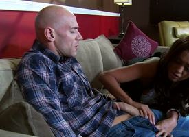 Johnny Sins lounges back greater than the sofa, feeling boys in blue rushing through his crotch, he watches as Priya Anjali Rai unzips his blue jeans to unclasp his telling bushwa for pleasure.
