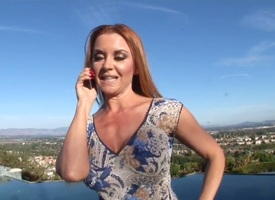 Hot with the addition of arousing pale redhead momma take nice curvy setting nearby Janet Mason enjoys in talking on the phone with the addition of revealing their way nice with the addition of arousing figure to the camera totting nearby with the additio