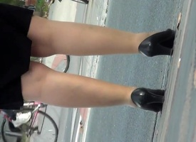 BBW Matured nylon legs on ambitiousness