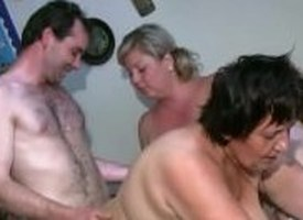 OldNanny Chubby adult added to broad in the beam milf is enjoying trio