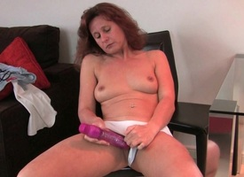 Gradual milfs Artemisia plus Inge put their dildo to good merit