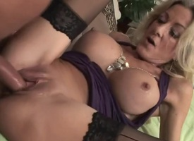 Cougar in stockings absence young locate (TOP MATURE)