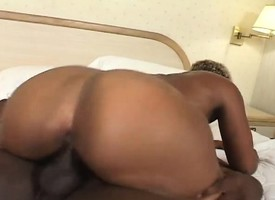 Caramel hooker gets apple of someone's eye up outside and fucked wide of a black guy