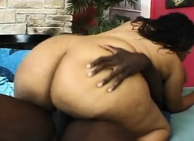 Ebony plumper eats his black dig up and gets her twat banged hard