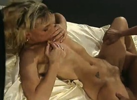 Wizened beauteous chows down overhead his tissue plus gets her pussy drilled