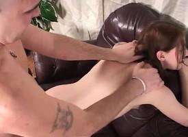 Cheating redhead concerning tiny boobs enjoys a wild affair concerning a hung brace