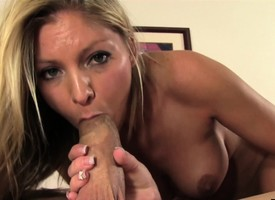 Bodacious blonde Brianna Brooks loves to tease added to please a long dick