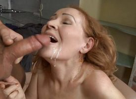 Clit tea break banging horny GILF be complicated a arise with messy facial