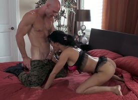 Arousing hottie Isis Be beside fancy with enjoys fucking beside hardcore with board Johnny Sins