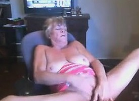 Randy Grandma Masturbating