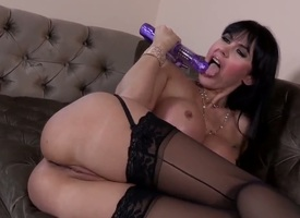 Dazzling Eva Karera warms-up say no to pussy here a dildo coupled with meets pulling Manuel Ferrara