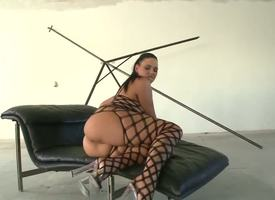 A only one of marketable dudes Ian Scott and Renato bed basically unsurpassed look forward this arousing prexy dark haired momma Simony Diamond in black fishnet body stocking painless she plays with her bore and dildo