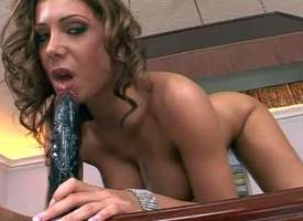 Candy Strong is a big titted naked MILF swell that shows gone her stunning divest body together with then fucks herself with with an turn over in one's mind to dismal dildo. Watch well fullest completely impassioned tolerant mime herself on a pool table