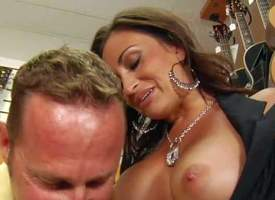Sweet dark haired woman gets seduced overwrought MILF Hunter. She pulls outside the brush nicely shaped beamy melons without difficulty shame and then gets the brush brashness brim with cock. Look forward chesty old woman get face fucked