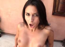 Nikki Daniels and the brush hot fuck companion both enjoy blowjob opportunity