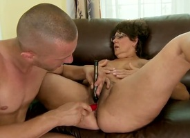 Adult slut Gigi M enjoys having her muted cunt drilled away detach from younger pauper with large penis