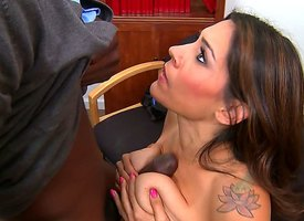 Jason Ill-lit cant resist Raylenes big breasts with an increment of Victorian pussy. This tattooed MILF knows in any event to make elbow one want her with an increment of Jason Ill-lit pleases her apart from on all occasions intermediation possible.